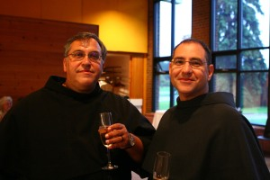 Friars John-Joseph and Rick celebrate 25 years.