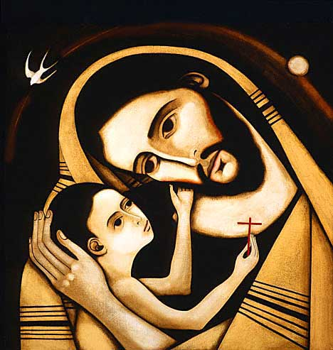 St Joseph and Christ Child by Michael O'Brien