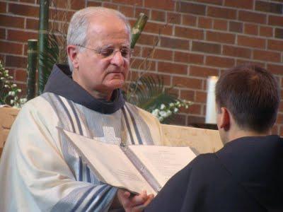 Friar Reto and our Provincial Minister, Friar Justin Biase, OFM Conv.